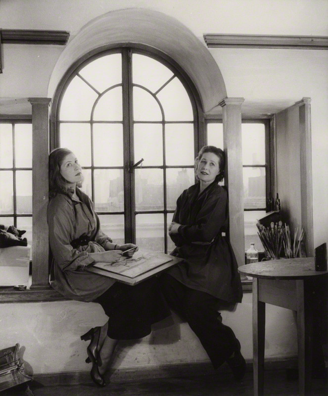 Julia Heseltine (left) with her mother