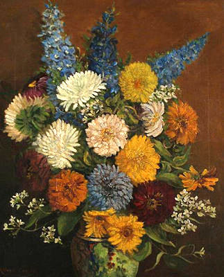 Still life of Summer Flowers in a Vase