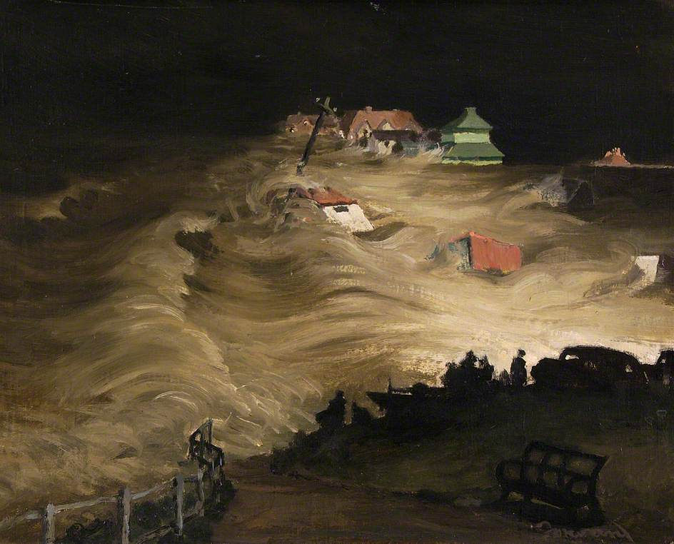 1953 Floods from Gun Hill, Southwold, Suffolk