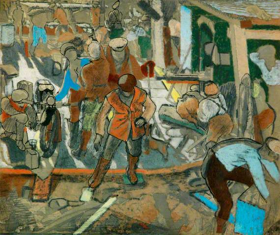 Study for Motor Transport Troops and German Prisoners: Chaulnes, Autumn 1918