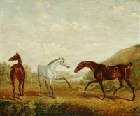 Landscape with Young Horses