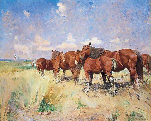 Suffolk Punches-Mares and Foals