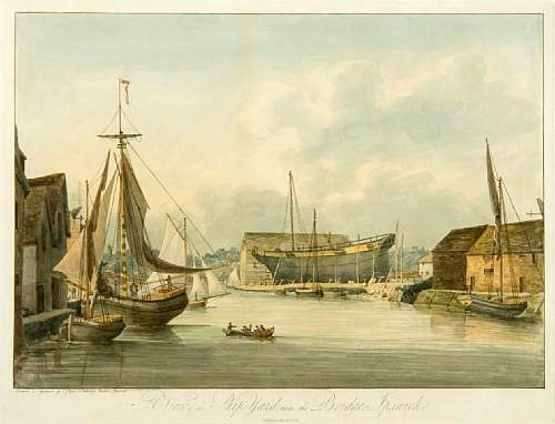 A view of the Ship-Yard, near the Bridge, Ipswich