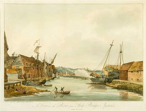 A view of the river from Stoke bridge, Ipswich