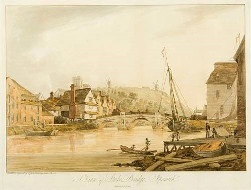 A view of Stoke Bridge, Ipswich'