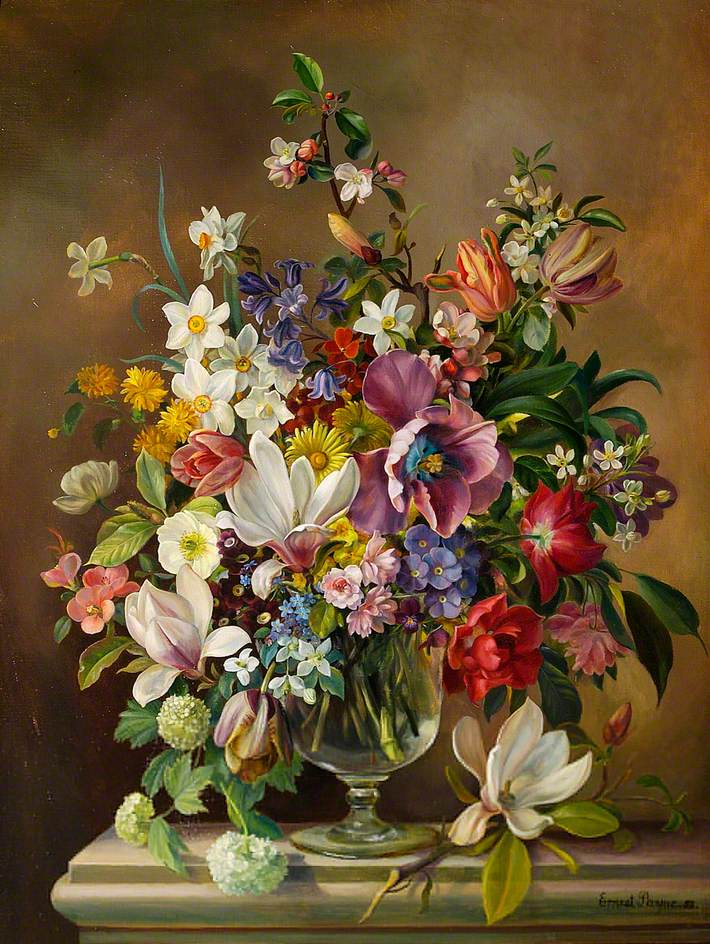 A Vase of Spring Flowers