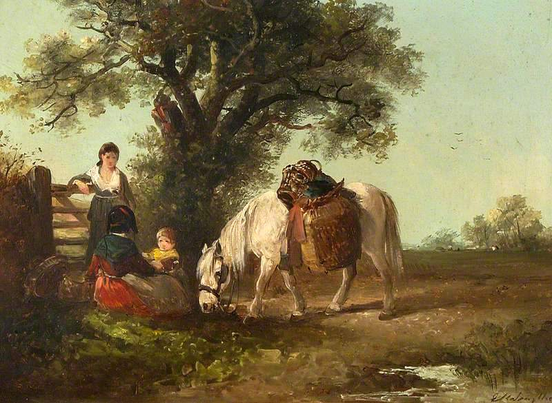 Two Women, Child and Pony