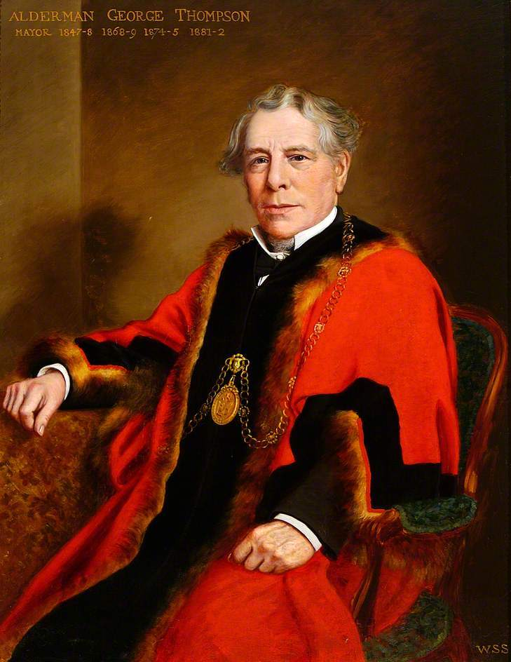 George Thompson, (1811-1887) Mayor of Bury St Edmunds