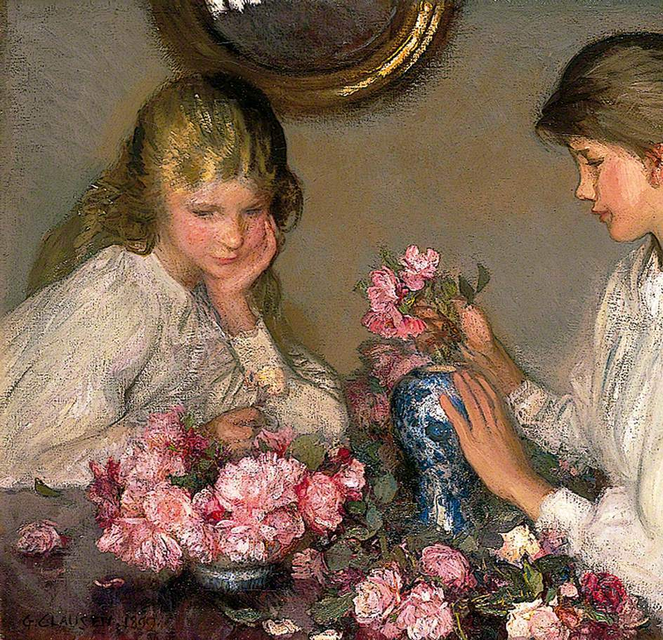 Children and Roses