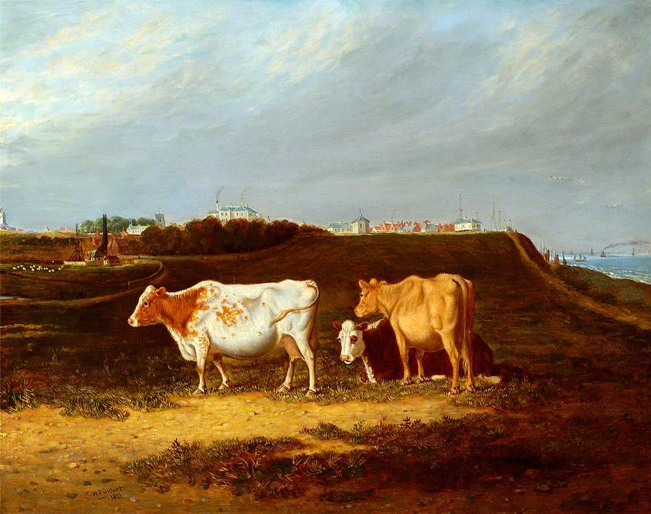 Southwold, Suffolk 1851, Cattle in Foreground