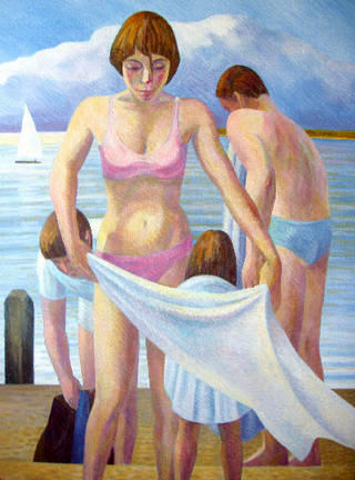 Family Group Bathing