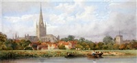 Norwich cathedral from the Wensum