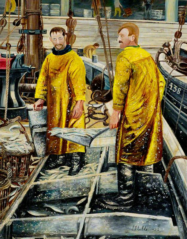Lowestoft Fish Market Scene, Suffolk