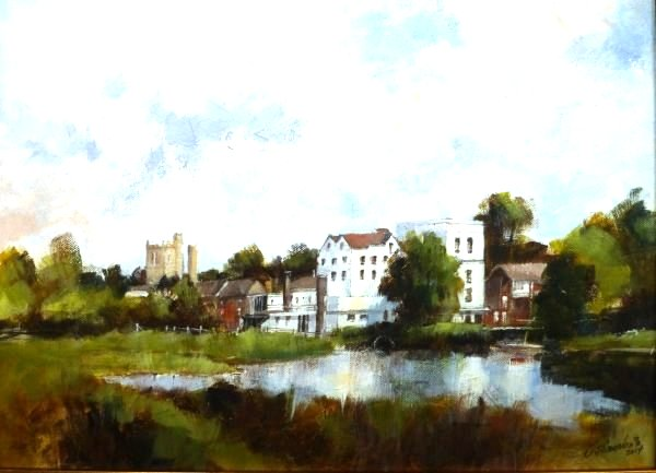 Mill Hotel across the Water Meadows, Sudbury
