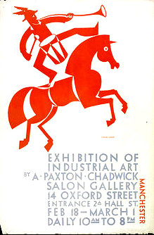 Poster by Paxton Chadwick, advertising the Exhibition of Industrial Art, Manchester