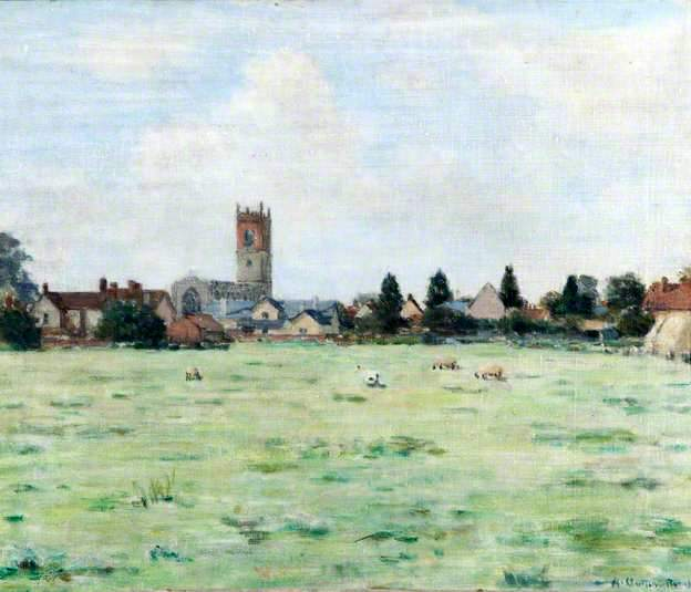 Nayland Village, Suffolk, Seen over a Field