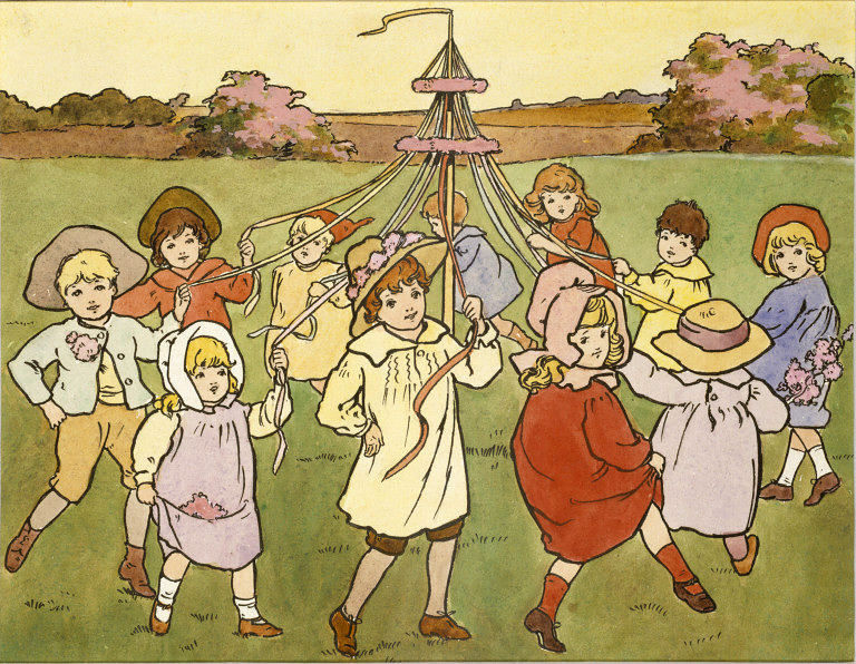 Children Dancing Round a Maypole