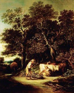 Wooded Landscape with a Milkmaid and a Woodman