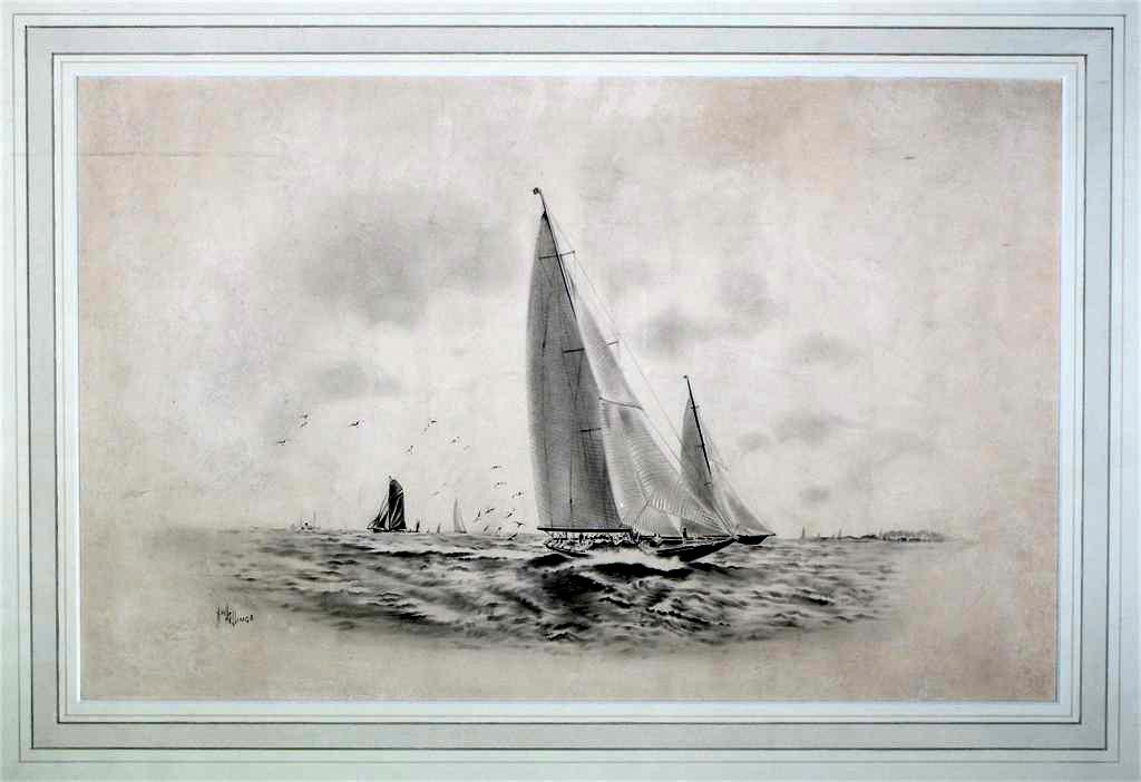 A Racing Cutter at Sea