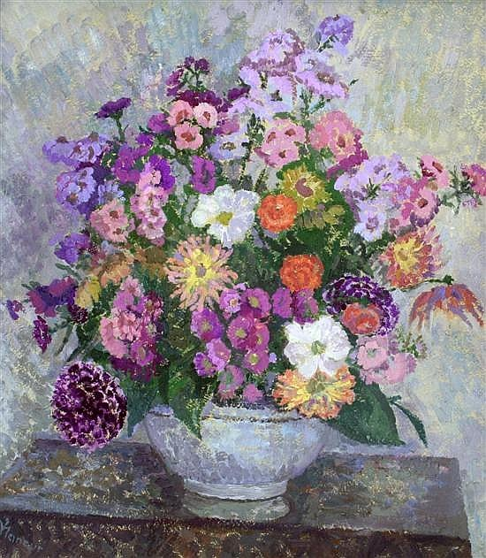 Still Life of Flowers in a Bowl