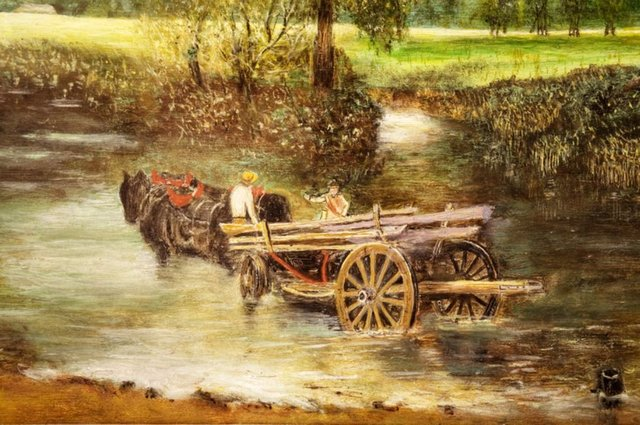 The Haywain - after Constable