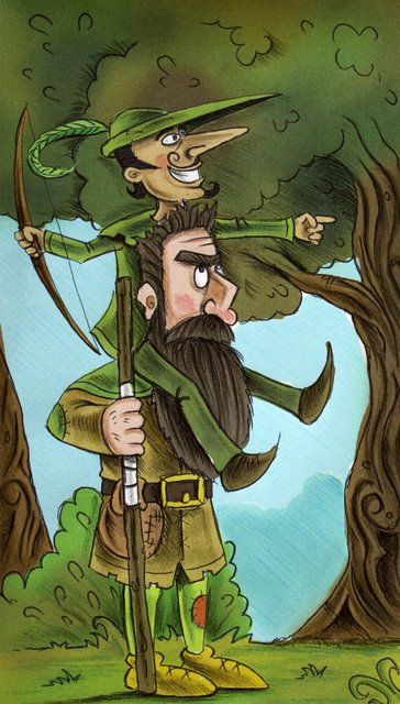 Robin Hood & Little John
