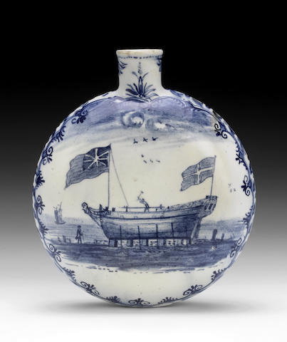 Lowestoft Flask, circa 1780