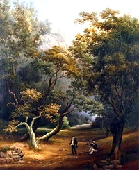 Figures in a Woodland Clearing