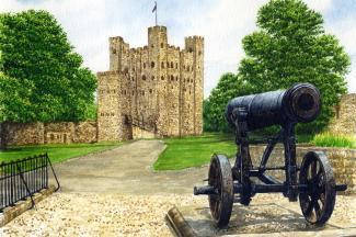 Rochester Castle and Cannon