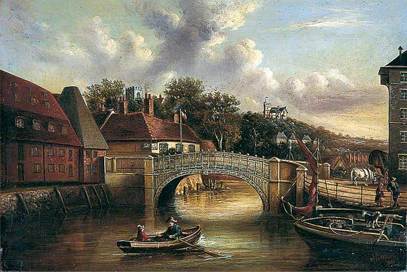 A View of Stoke Bridge, Ipswich