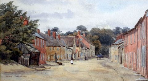 Study of the Village Street, Bramford, Suffolk