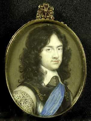 Charles Stuart, 1630-1685, Prince of Wales. The later King Charles II