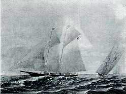 Racing Sloop of J. Gordon Bennett