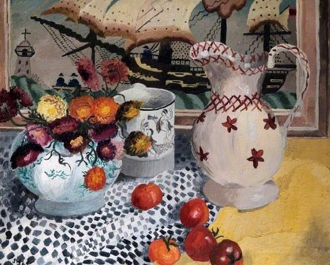 Still Life with Victorian Embroidery