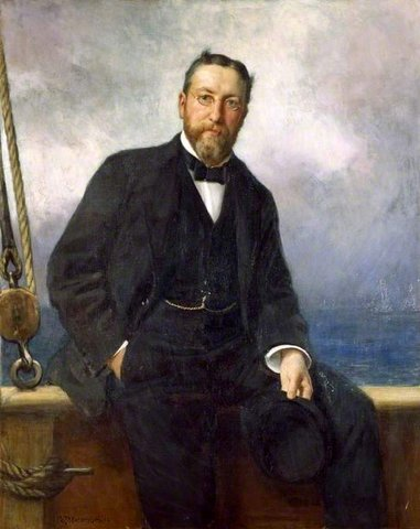 Peter Thellusson (1850–1899), on Board his Yacht, 'Albion'