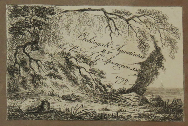 Rocky Landscape; frontispiece to a set of prints