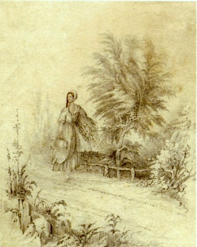 Country Girl with Pitcher and Brushwood