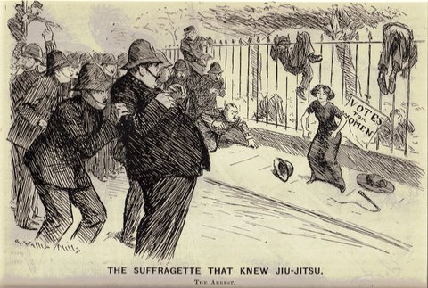 The Suffragette that Knew Jiu-Jitsu. The Arrest