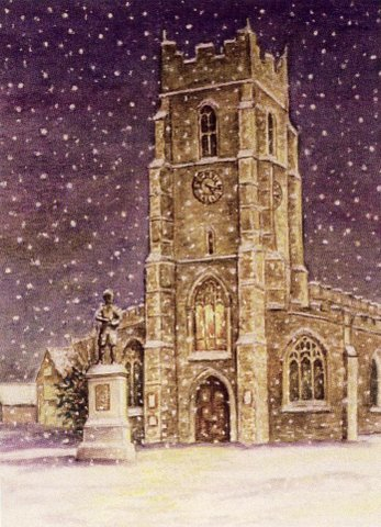 St Peter's Church at Christmas
