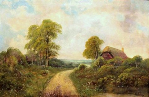 Country Landscape with Cottage