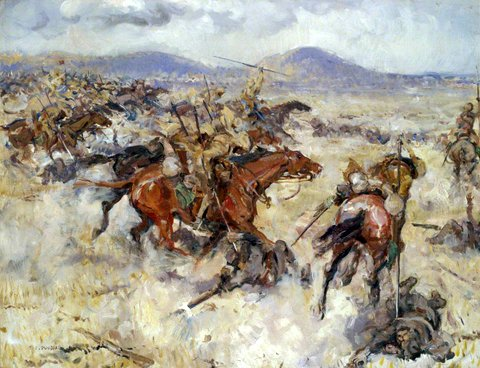 Charge of the Second Lancers at El Afuli in the Valley of Armageddon, 20 September 1918