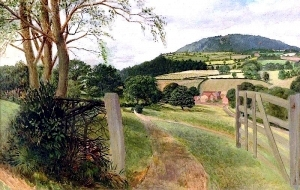 The Wrekin from Coalbrookdale, Shropshire