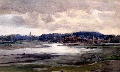 Estuary Landscape, possibly Manningtree, Essex