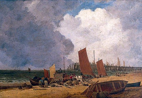 Yarmouth Beach and Jetty, Norfolk (after John Crome)