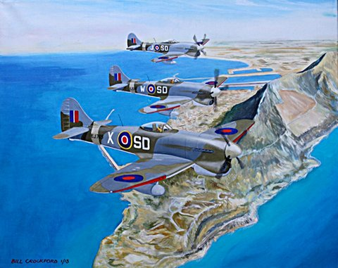 Hawker Tempest V's Over the Rock