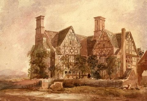 Old Manor House at Southam, Gloucestershire. Sketched from nature