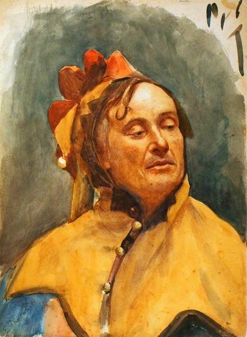 A Man in a Jester's Costume