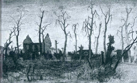 Evening on the Ypres-Poperinghe Road