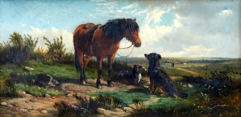 Drover Pony and Dogs