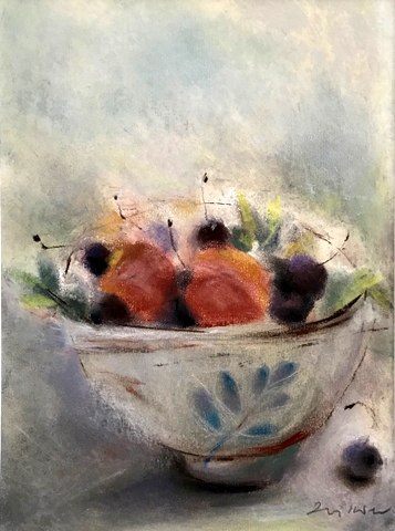 Summer Fruit in a Chinese Bowl